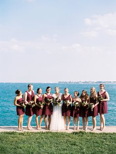 Chic Chicago Affair in Marsala & Gold on Borrowed & Blue.  Photo Credit: Ashley Bosnick Photography