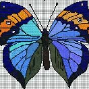 Butterfly 12 Counted CrossStitch Pattern - via @Craftsy