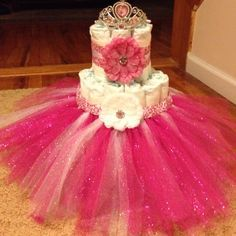 tutu diaper cakes for girls | diaper cakes