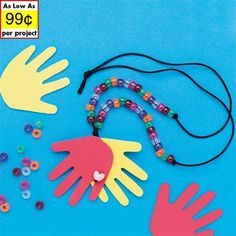 Larger image for Helping Hands Necklaces Craft Kit (makes 12)