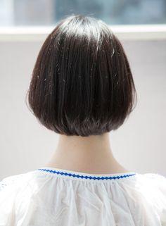 ナチュラルモード♪小顔グラデーションボブ(髪型ショートヘア)