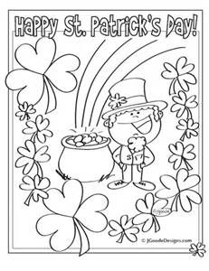 st patricks day coloring pages bing images