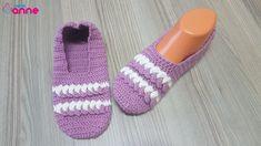 Tığ İşi Örgülü Bayan Patik Yapımı - Canım Anne Slippers, Anne, Shoes, Fashion, Fuzzy Slippers, Amigurumi, Moda, Zapatos, Shoes Outlet