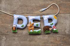 Felt name banner nursery decor personalized gift felt