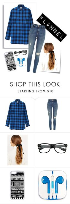 """""""Flannel Contest"""" by riddle-me-this07 ❤ liked on Polyvore featuring Post-It, Uniqlo, River Island, CellPowerCases and PhunkeeTree"""