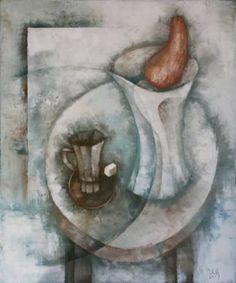 White still-life by Eugene Ivanov, oil on canvas, 60 X 50 cm, $1440. #eugeneivanov #@eugene_1_ivanov #modern #original #oil #watercolor #painting #sale #hipster #art_for_sale #original_art_for_sale #modern_art_for_sale #canvas_art_for_sale #art_for_sale_artworks #art_for_sale_water_colors #art_for_sale_artist #art_for_sale_eugene_ivanov #abstract #best_abstract_art