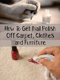 1000 images about cleaning tips on pinterest carpets How to get nail polish out of couch