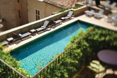 Relais & Chateaux - At the foot of the Dentelles de Montmirail mountains and Mont Ventoux is a charming and historic place in a location close to the heart of Paul Cézanne. Hotel Crillon le Brave, Provence #relaischateaux #pool