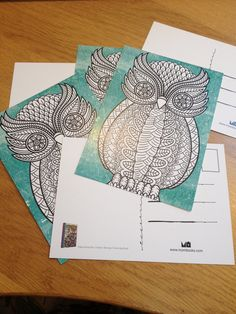 new colouring postcards!