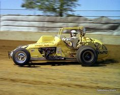Unique George Snider USAC 8x10 Photo Sprint Car Racing, Dirt Track Racing, Auto Racing, Beach Jeep, Outlaw Racing, Flat Track Motorcycle, Offroad And Motocross, Blue Jeep, Old Race Cars