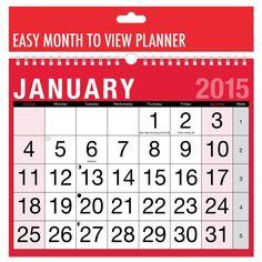 BARGAIN 2015 Calendar View Planner £1 delivered at Amazon - Gratisfaction UK