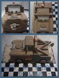 Mater tow truck cake CARS 2