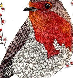 Robin art print Robin illustration Robin red от TheTangledPeacock