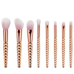 contour makeup tutorial 8pcs Nice Quality Rose Gold Honeycomb handle Makeup Brush Set Pink hair Cosmetic Brushes with opp bag ** Click the image for detailed description on AliExpress website