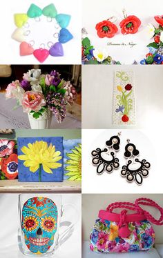 FLOWERS IN YOUR SHOP by ClariClarina on Etsy--Pinned with TreasuryPin.com