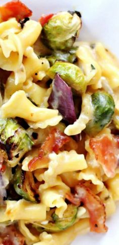 Brussels Sprouts, Bacon and Pepper Jack Macaroni and Cheese