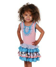 Pink Bunnies & Kitties Chloe Dress - Toddler & Girls #zulily #zulilyfinds