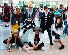 Soul Eater cosplay.but the death the kid one...his jacket is crooked....ITS NOT SYMMETRICAL