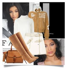 Kylie Jenner by lidia-solymosi on Polyvore featuring polyvore fashion style Sacai Off-White Ralph Lauren Collection Burberry clothing
