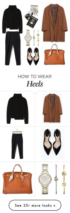 """""""Untitled #85"""" by ks333 on Polyvore featuring FOSSIL, Zara, Hermès, Proenza Schouler and Assouline Publishing"""