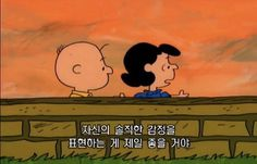 [바이가니 : BY GANI] 찰리브라운과 스누피 (The Charlie Brown And Snoopy) : 원제 피너츠 (Peanuts) 명장면 명대사모음 : 네이버 블로그 Charlie Brown Meme, Cartoon Icons, Cartoon Characters, K Quotes, Lucy Van Pelt, Korean Quotes, Brown Art, Learn Korean, Korean Language