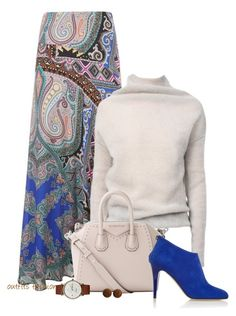 Maxi Skirt for Fall by outfitsfashion4 on Polyvore featuring polyvore, fashion, style, Rick Owens, Etro, Jimmy Choo, Givenchy, Triwa and clothing