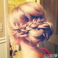 Medium Length Hairstyles Braids 16 Pretty And Chic Updos For Medium Length Hair…