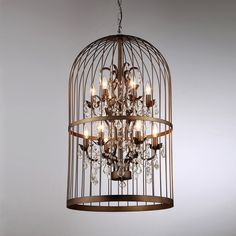 Rinee Cage Chandelier - Overstock™ Shopping - Great Deals on Warehouse of Tiffany Chandeliers & Pendants