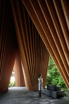 Sayama Forest Chapel Hiroshi Nakamura & NAP Koji Fujii/ Nacasa & Partners Inc - Architecture and Home Decor - Bedroom - Bathroom - Kitchen And Living Room Interior Design Decorating Ideas - Sacred Architecture, Magazine Architecture, Architecture Du Japon, Timber Architecture, Religious Architecture, Contemporary Architecture, Architecture Design, Architecture Religieuse, Timber Structure