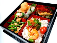 Seafood Bento Box - comes with a choice of soup also! ;-) Available 12:00-15:30, Mon-Friday