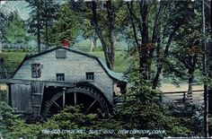 Antique Prelinen Postcard 1910 The Old Town Mill Built 1650 New London CT