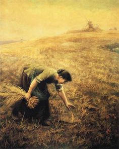 Gleaning by Arthur Hughes (27 January 1832; London, England – 22 December 1915), oil on canvas. Private collection. http://en.wikipedia.org/wiki/Arthur_Hughes_(artist)