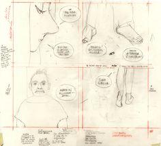 """by Manuele Fior /sketch pour """"L'entrevue"""" (album à tomber)"""