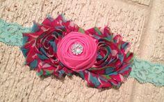 Shabby flowers headband.. Baby headband on Etsy, $8.00