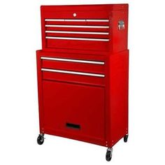 The Halfords 5 Drawer Tool Centre is our lowest priced cabinet and chest featuring ball bearing slides, ideal for keeping your workshop tidy. Diy Tools, Filing Cabinet, Car Seats, Drawers, House Design, Cool Stuff, Storage, Centre, Workshop