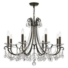 Crystorama Othello 6828 Chandelier - 6828-EB-CL-MWP