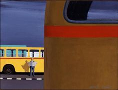Artist - Jeffrey SMART Australian Painters, Australian Artists, Jeffrey Smart, Hard Edge Painting, Smart Art, Art Lessons, Street Photography, Turtle Soup, 20 June