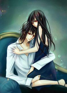 Yuki x Kaname - Vampire knight Yuki And Kaname, Yuki Kuran, Manga Art, Manga Anime, Vampire Knight Zero, Matsuri Hino, Kaichou Wa Maid Sama, Manga Love, Diabolik Lovers