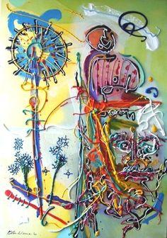 """Chief Geronimo 1905"" Acryl on canvas, 2007 70cm x 100cm  In Henk Klinkhamer gallery"