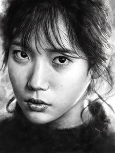 Pencil Art, Pencil Drawings, Kpop Girls, Fanart, Fan Art