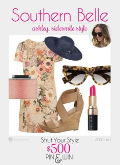 SOUTHERN BELLE: Equal parts bright and demure colors, this look is all about whimsical prints. Think preppy and always ladylike. Don't forget to enter to win $500 at divinecaroline.com/strut-your-style