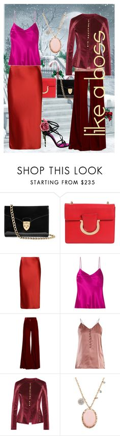 """""""GOT PINK"""" by snow-magic ❤ liked on Polyvore featuring Aspinal of London, Salvatore Ferragamo, T By Alexander Wang, Galvan, Racil, Hillier Bartley, Altuzarra, Meira T and Dolce&Gabbana"""