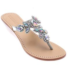 Mystique Sandals features unique hand crafted leather women's sandals that are embellished with jewelry Bridal Wedges, Bridal Sandals, Mystique Sandals, Thing 1, Jeweled Sandals, Travel Shoes, Size 9 Shoes, Black High Heels, Sneakers