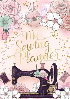 do you need an easy Sewing Art, Sewing Rooms, Sewing Crafts, Sewing Projects, Sewing Patterns, Sewing Clipart, Gata Marie, Calendar Pages, Happy Planner