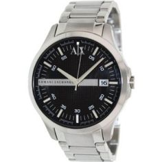 85b6f7358b6 Relógio Armani AX Exchange Whitman Black Dial Stainless Steel Mens Watch  AX2103  Relogios  ArmaniExchange