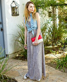 Everyday wear maxie dress...summer must have. Own the black and rust.