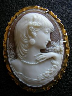 Antique Cameos hand carved by Master carver Giovanni Noto in our cameo factory in Torre del Greco Italy