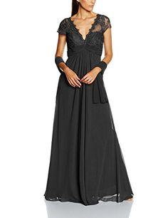 Mascara Women's Bouble V-Lace Dress, Grey (Charcoal), 12