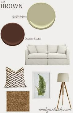 2015 Benj Moore Color of the Year Guilford Green is a great fit paired with Chocolate Sundae to bring nature indoors!
