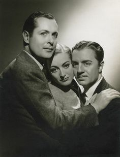 Robert Montgomery, Joan Crawford, and William Powell. 1937. Publicity for 'Last of Mrs. Cheyney.'